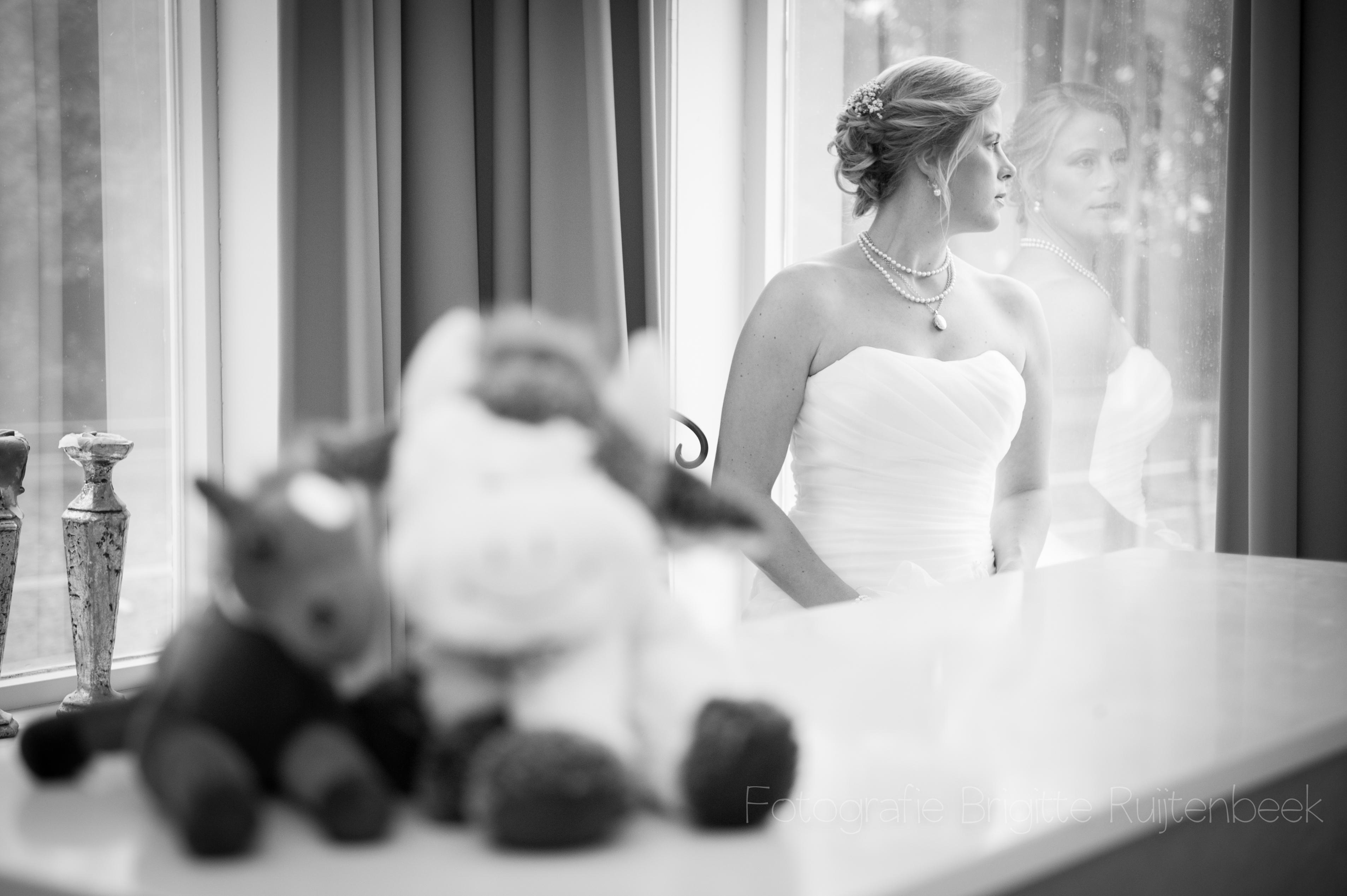 Klaar! Nu wachten op haar bruidegom!